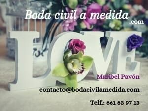 Tu boda civil a medida con Maribel Pavón en www.bodacivilamedida.com