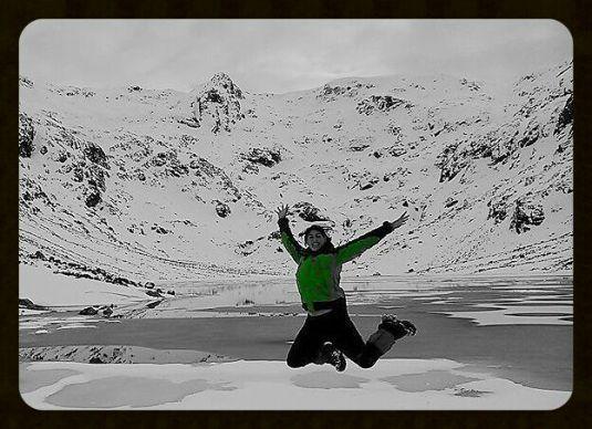 Elena Gómez en la nieve