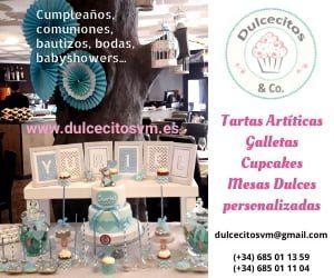 Dulcecitos - Tartas artísticas, galletas, cupcakes, ...